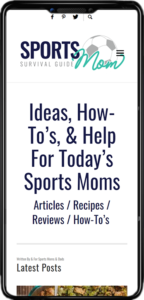 Sports Mom website on mobile