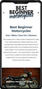 Best Beginner Motorcycles website on mobile
