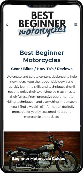 Best Beginner Motorcycles on mobile