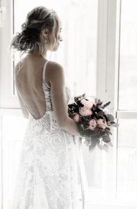 Bride awaiting her wedding day