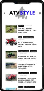 ATV Style website on mobile