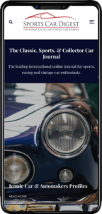 Sports Car Digest Mobile View
