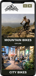 Best eBike Store Mobile View