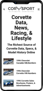 Corvsport Mobile View