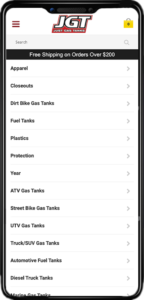 Just Gas Tanks Mobile View