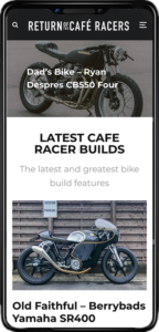 Return of the Cafe Racer Mobile Preview